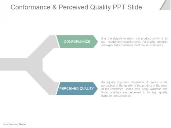 Conformance And Perceived Quality Ppt PowerPoint Presentation Slide Download