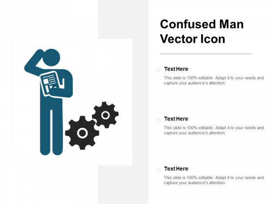 Confused Man Vector Icon Ppt Powerpoint Presentation Professional Mockup