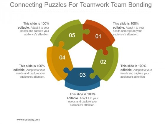 Connecting Puzzles For Teamwork Team Bonding Ppt Background