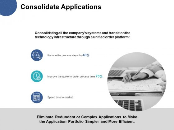 Consolidate Applications Ppt PowerPoint Presentation Styles Visual Aids