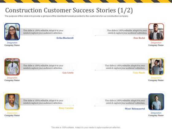 Construction_Business_Company_Profile_Construction_Customer_Success_Stories_Teamwork_Pictures_PDF_Slide_1