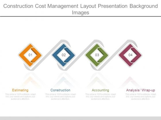 Construction Cost Management Layout Presentation Background Images
