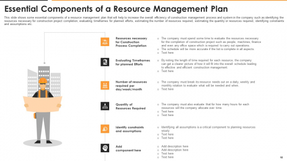 Construction_Management_For_Optimizing_Resource_Efficiency_And_Labor_Capacity_Ppt_PowerPoint_Presentation_Complete_With_Slides_Slide_18
