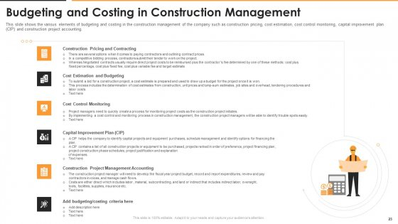 Construction_Management_For_Optimizing_Resource_Efficiency_And_Labor_Capacity_Ppt_PowerPoint_Presentation_Complete_With_Slides_Slide_23