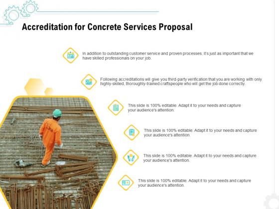 Construction Material Service Accreditation For Concrete Services Proposal Sample PDF