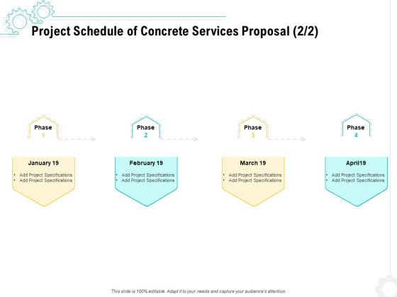 Construction Material Service Project Schedule Of Concrete Services Proposal Specifications Infographics PDF