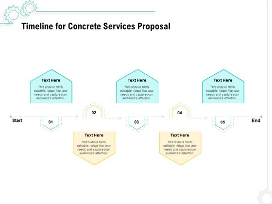Construction Material Service Timeline For Concrete Services Proposal Download PDF