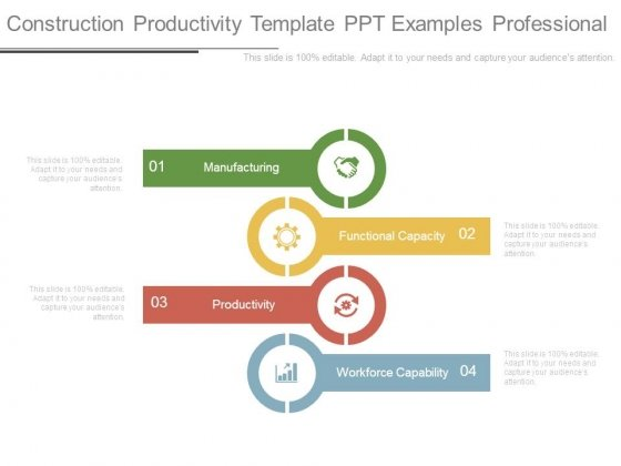 construction productivity template ppt examples professional