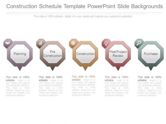 Construction Schedule Template Powerpoint Slide Backgrounds