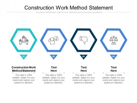 Construction Work Method Statement Ppt PowerPoint Presentation Slides Example File Cpb