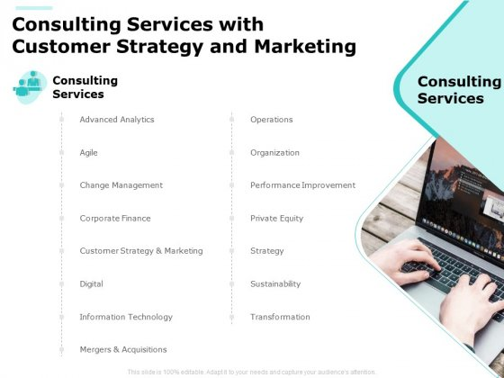Consulting Services With Customer Strategy And Marketing Ppt PowerPoint Presentation Icon Introduction PDF