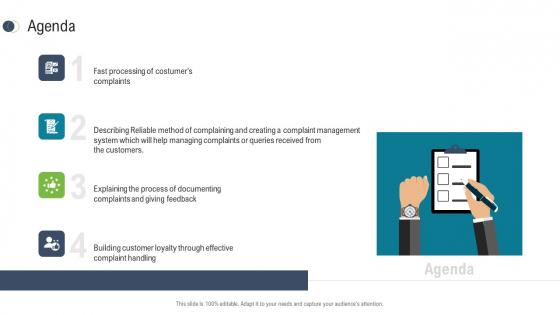 Consumer Complaint Procedure Agenda Ppt Styles Design Templates PDF