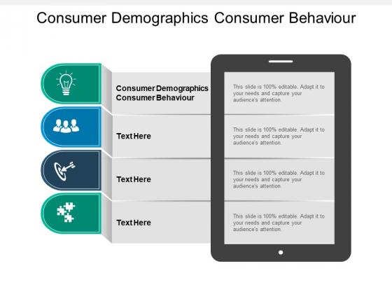 Consumer Demographics Consumer Behaviour Ppt PowerPoint Presentation Slides Images