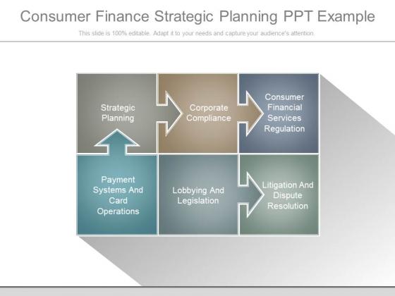 Consumer Finance Strategic Planning Ppt Example