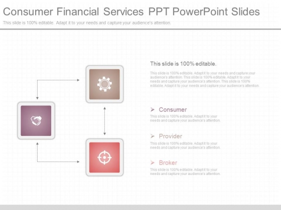 Consumer Financial Services Ppt Powerpoint Slides
