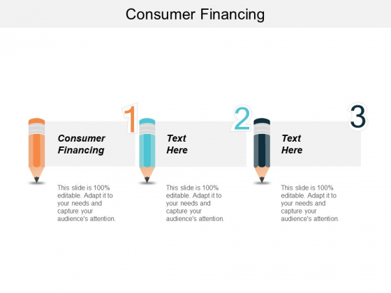 Consumer Financing Ppt PowerPoint Presentation Styles Format Cpb