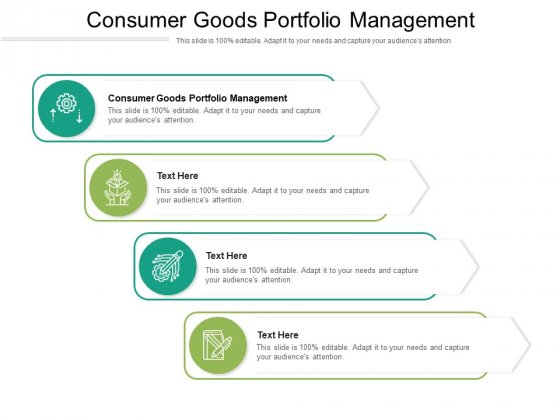 Consumer Goods Portfolio Management Ppt PowerPoint Presentation Show Graphics Cpb Pdf