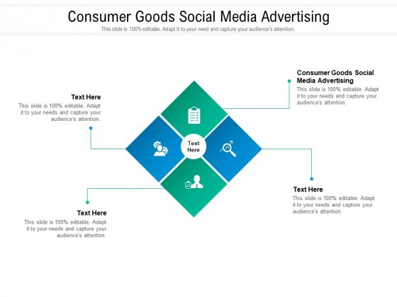 Consumer Goods Social Media Advertising Ppt PowerPoint Presentation Gallery Objects Cpb Pdf