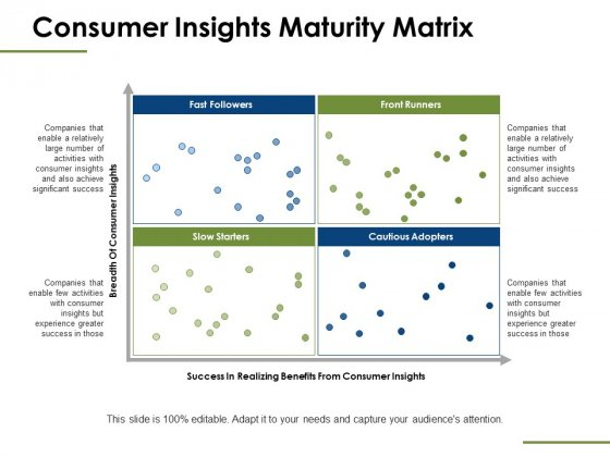 Consumer Insights Maturity Matrix Ppt PowerPoint Presentation Styles Guide