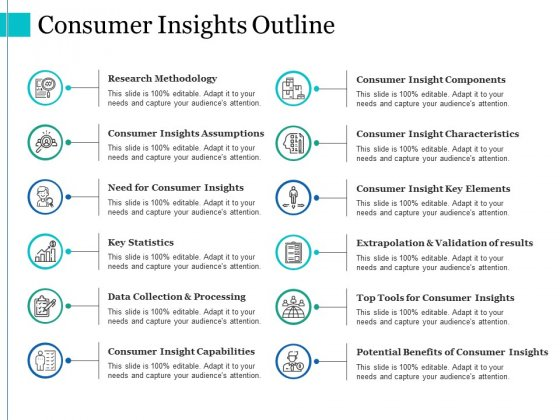 Consumer Insights Outline Ppt PowerPoint Presentation Icon Example File