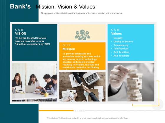 Consumer Lending Procedure Banks Mission Vision And Values Ppt Ideas Graphics Design PDF