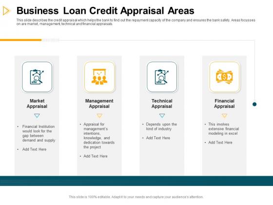 Consumer Lending Procedure Business Loan Credit Appraisal Areas Ppt Portfolio Format PDF