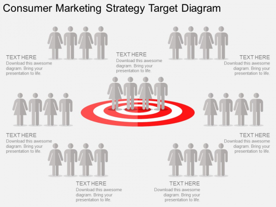 Consumer Marketing Strategy Target Diagram PowerPoint Template