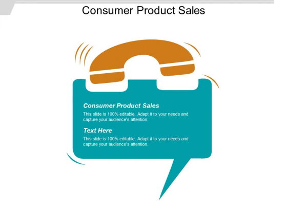 Consumer Product Sales Ppt PowerPoint Presentation Infographics Introduction Cpb
