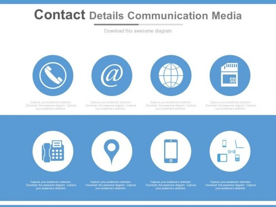Contact Details Communication Media Ppt Slides