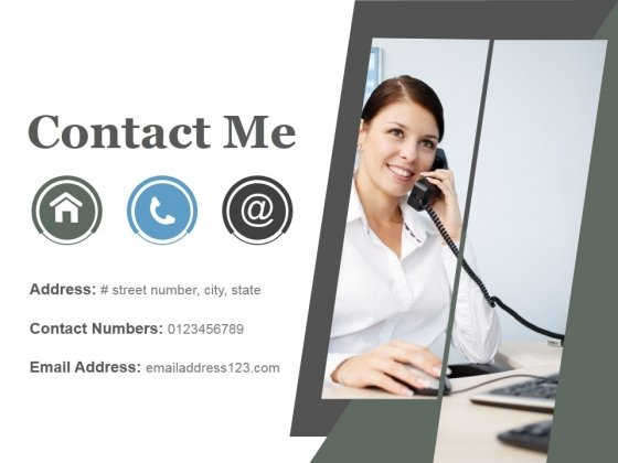 Contact Me Ppt PowerPoint Presentation Background Images