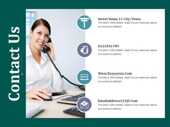 Contact Us Ppt PowerPoint Presentation Infographics Objects
