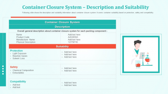 Container Closure System Description And Suitability Themes PDF