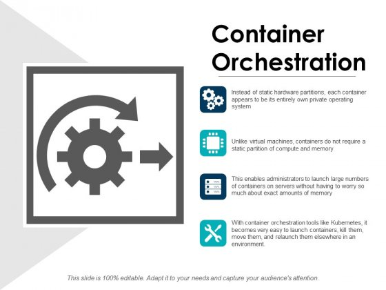 Container Orchestration Ppt PowerPoint Presentation Gallery Diagrams