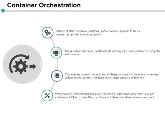 Container Orchestration Ppt PowerPoint Presentation Ideas Skills