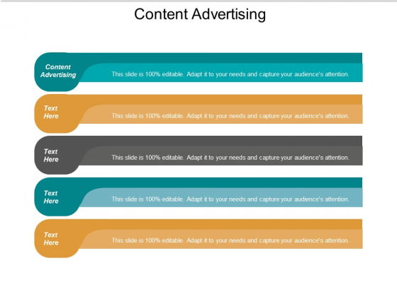 Content Advertising Ppt PowerPoint Presentation Outline Objects Cpb