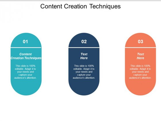 Content Creation Techniques Ppt PowerPoint Presentation Styles Background Cpb