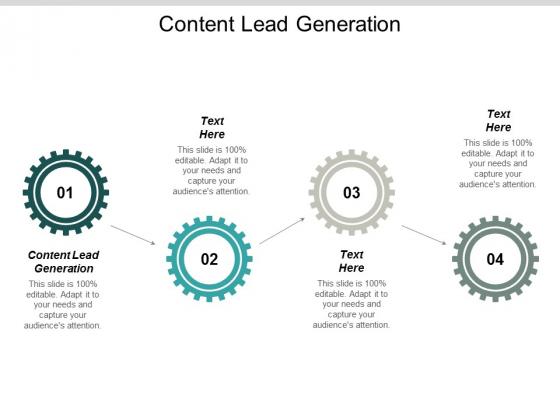 Content Lead Generation Ppt PowerPoint Presentation Slides Show Cpb