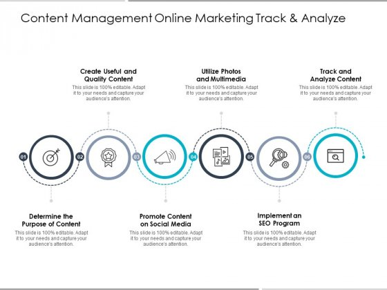 Content Management Online Marketing Track And Analyze Ppt PowerPoint Presentation Inspiration Visuals
