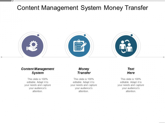 Content Management System Money Transfer Ppt PowerPoint Presentation Inspiration Icons