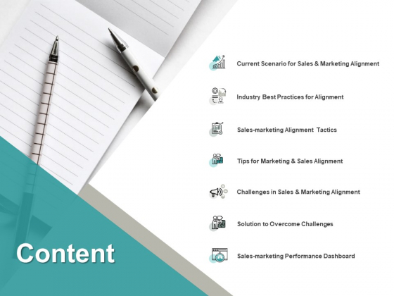 Content Marketing Alignment Ppt PowerPoint Presentation Infographic Template Grid