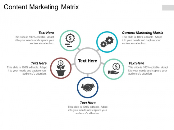 Content Marketing Matrix Ppt PowerPoint Presentation Example 2015 Cpb