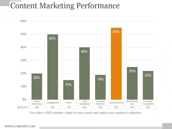 Content Marketing Performance Ppt PowerPoint Presentation Show
