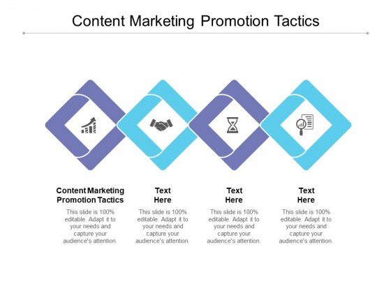 Content Marketing Promotion Tactics Ppt PowerPoint Presentation Model Layout Cpb