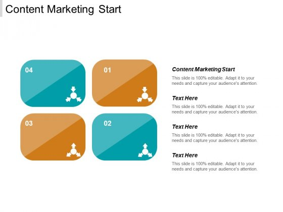 Content Marketing Start Ppt PowerPoint Presentation Layouts Background Designs Cpb