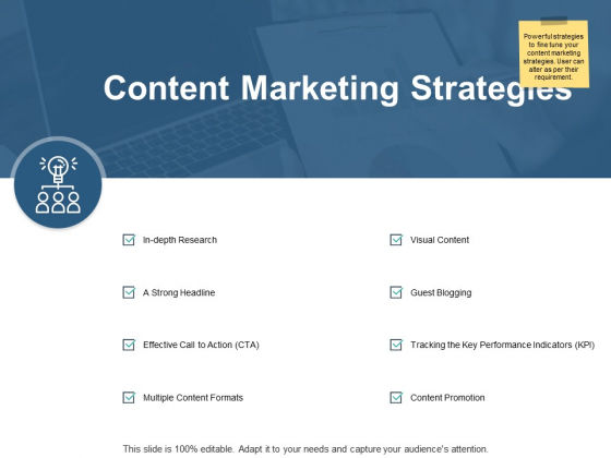 Content Marketing Strategies Ppt PowerPoint Presentation Gallery Example Introduction
