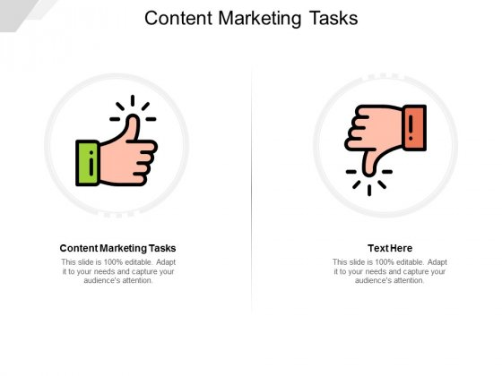 Content Marketing Tasks Ppt PowerPoint Presentation Model File Formats Cpb