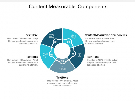 Content Measurable Components Ppt PowerPoint Presentation Show Format Ideas Cpb Pdf