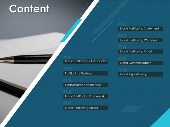 Content Positioning Strategy Ppt PowerPoint Presentation Gallery Deck