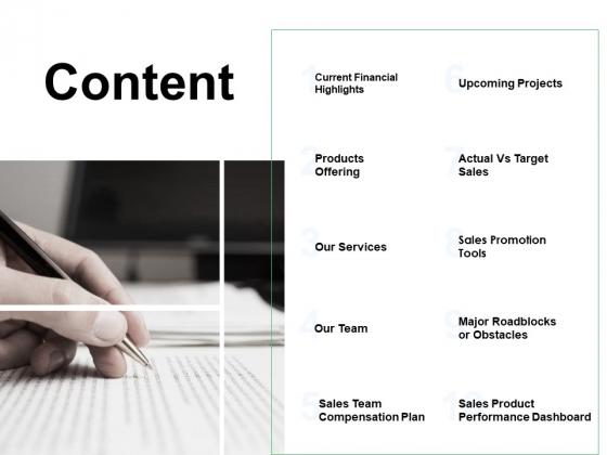 Content Sales Team Ppt PowerPoint Presentation Pictures Smartart