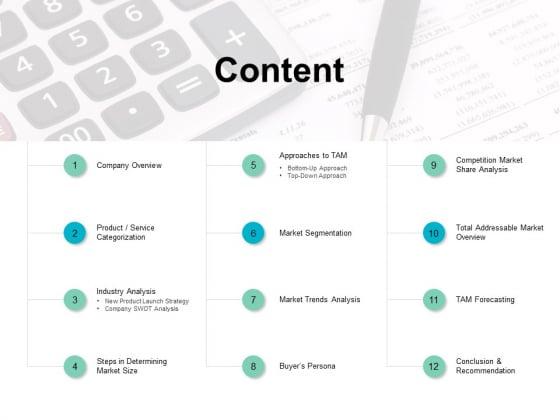 Content Slide Market Segmentation Ppt PowerPoint Presentation Infographic Template Template